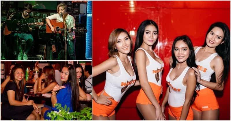 Live band and Thai girls in Sukhumvit soi 4 in Bangkok