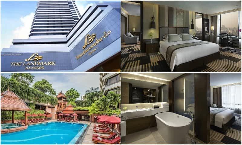 Amenities and rooms from Landmark Hotel around Nana Plaza in Bangkok